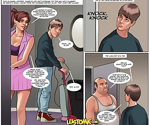 comics Lustomic – Daniel's Big Break, blowjob  group
