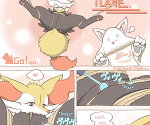english comics Tied Flame, braixen , monster  anal