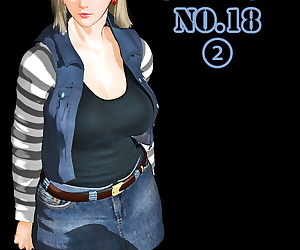 comics No.18 Part2, android 18 , dr. gero , threesome  group