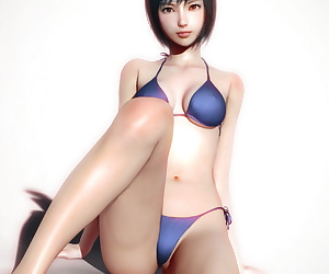 comics Yuffie Real, yuffie kisaragi , swimsuit , 3d
