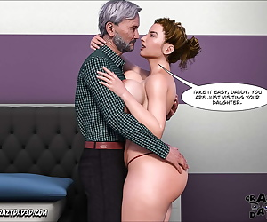 english comics Father-in-Law at Home 8 - part 2, blowjob , threesome