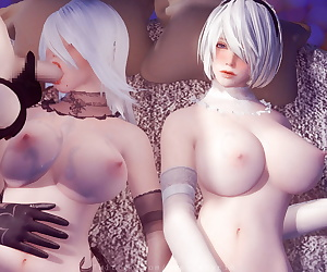 comics 2B &9S& A2 - part 4, 3d  group